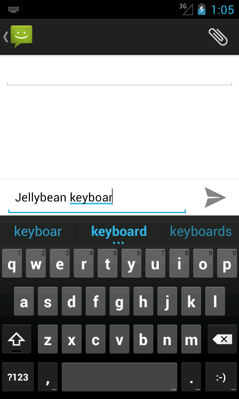 Android Jelly Bean Keyboard - screenshot