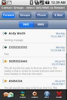 Screenshot of Group SMS&MMS + Forward/Twitt
