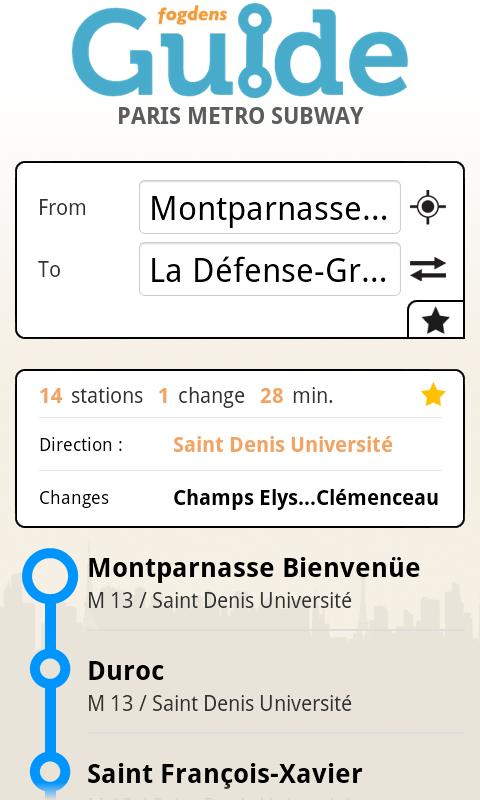 Paris metro subway guide- screenshot