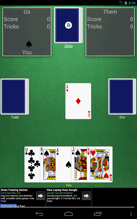 how to play rook card game with 3 players