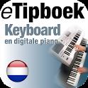 eTipboek Keyboard en dig piano icon