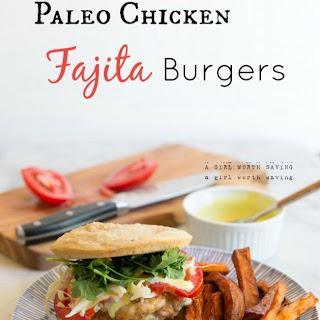 Paleo Chicken Fajitas Burgers