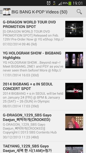 BIG BANG K-POP Videos
