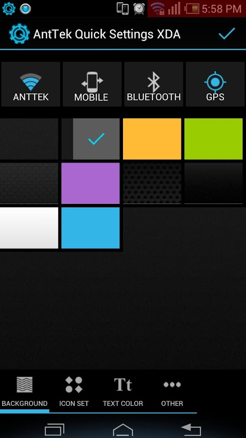 AntTek Quick Settings Pro - screenshot