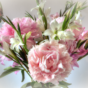 Etherial Arrangement by John Walton - Flowers Flower Arangements ( arrangement, hdr, pink, heritagefocus, flowers )