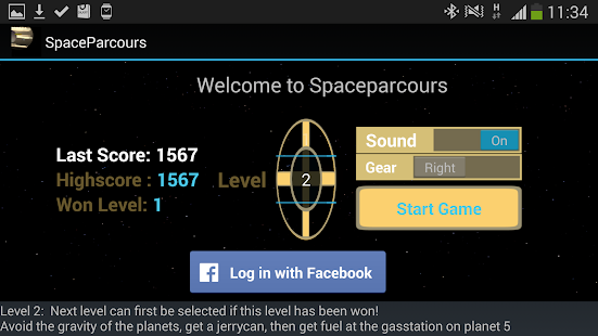 SpaceParcours- screenshot thumbnail