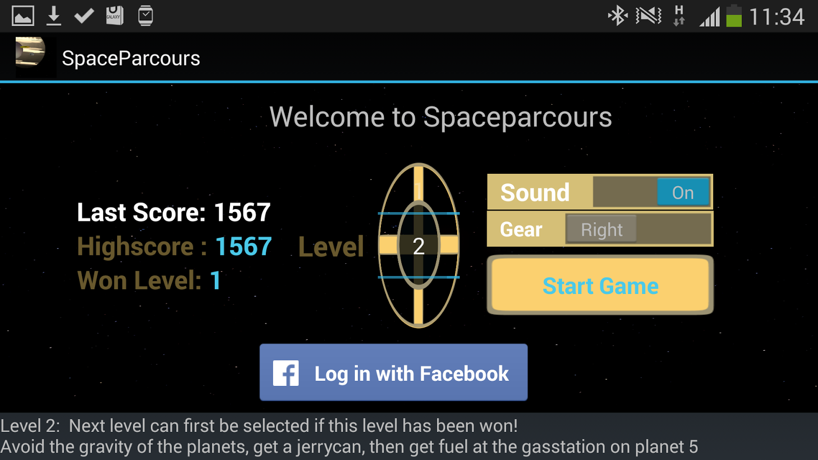 SpaceParcours- screenshot