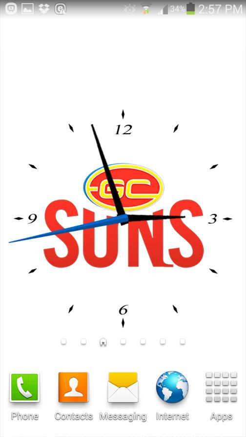 Gold Coast SUNS Analog Clock- screenshot