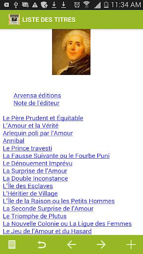 Marivaux : Oeuvres