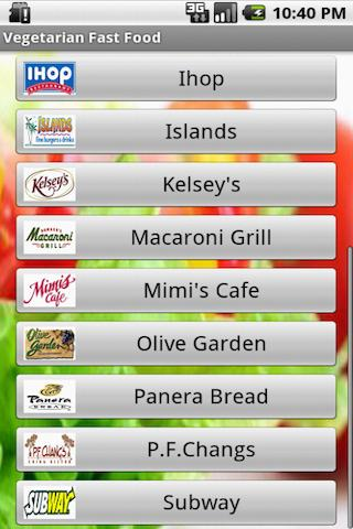 Vegetarian Fast Food- screenshot