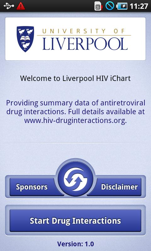 HIV iChart - screenshot