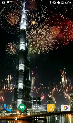 Dubai Fireworks Live Wallpaper - screenshot