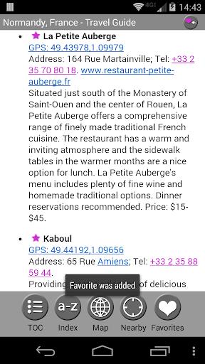 【免費旅遊App】Normandy - FREE Guide & Map-APP點子