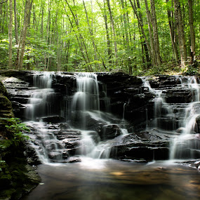 Miner's Run Falls I by Isaac Golding - Landscapes Waterscapes ( waterfalls, pennsylvania, rock run, mcintyre wild area, roaring branch, ralston,  )