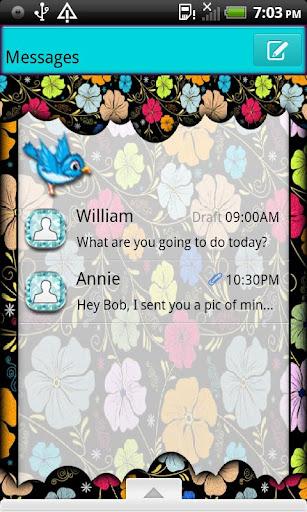 GO SMS THEME SpringBird4U