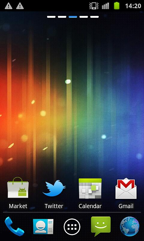 ICS apex / Go Launcher theme - screenshot