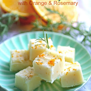 Buttermilk Fudge with Orange & Rosemary