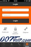 Screenshot of 007VoIP Cheap VoIP calls