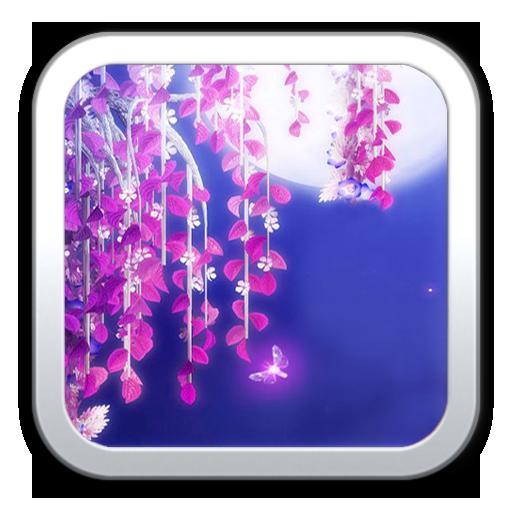 月下之櫻花動態壁紙 生活 App LOGO-APP試玩
