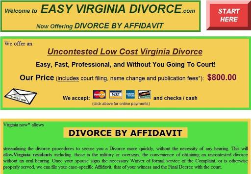Easy Virginia Divorce