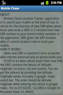 Mobile Chase-GPS Tracker - screenshot thumbnail