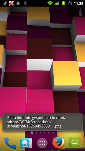3Dでライブ壁紙:無限大にボックスを拡張します。