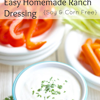 Homemade Ranch Dressing (Soy Free & Corn Free)