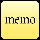 Ultra quick memo notes icon