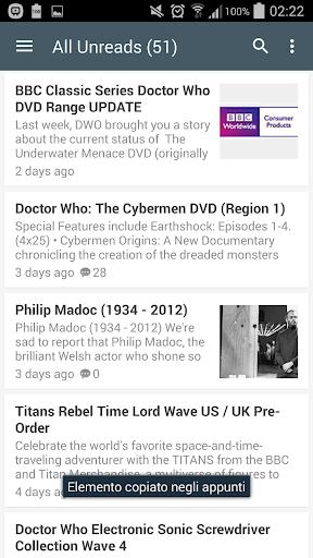 Fan app Doctor Who