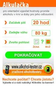 "Alkulačka ""Alkohol tester""- screenshot thumbnail"