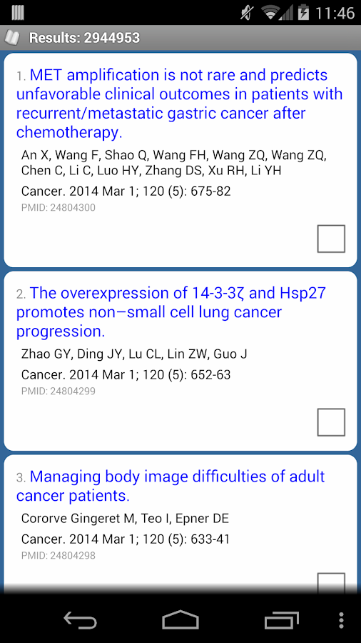 PubMed Mobile Pro- screenshot