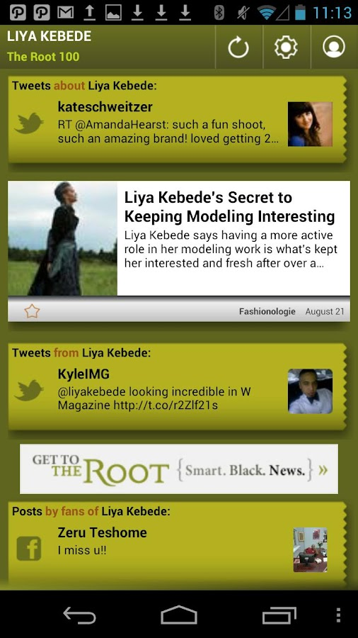 Liya Kebede: The Root 100 - screenshot