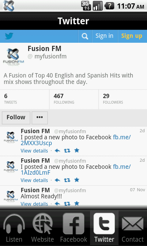 Fusion FM- screenshot