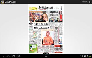 Screenshot of De Telegraaf Krant