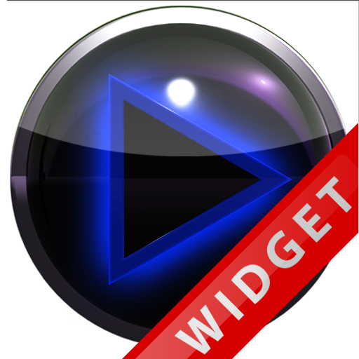 Poweramp Widget Blue Glow