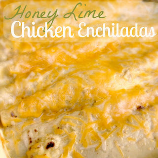 Honey Lime Chicken Enchiladas.