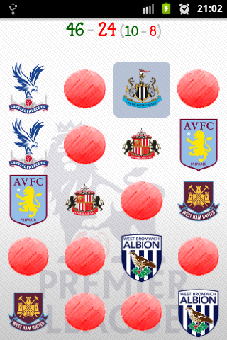 Premier League Memory Game - screenshot