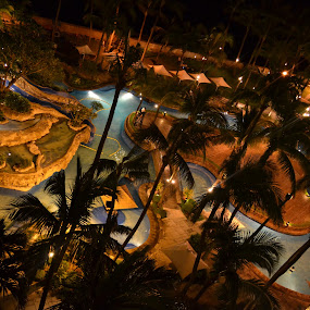 Sofitel at Night by Anjsh Lacanlale - Landscapes Waterscapes ( water, night, lanscapes )