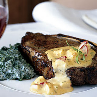 Kansas City Steaks with Lobster Béarnaise Sauce.