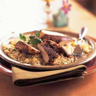 Spiced Chicken with Couscous Pilaf.