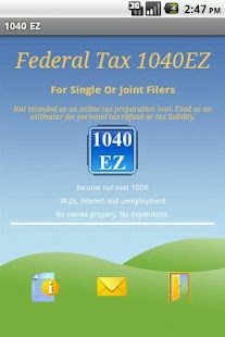 Federal Tax 1040EZ - screenshot thumbnail