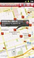 Screenshot of CIBC ATM and Branch Locations