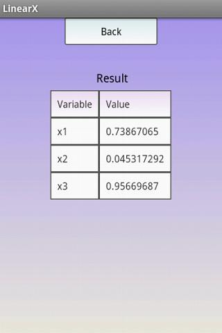 Linear Equation System Solver - screenshot