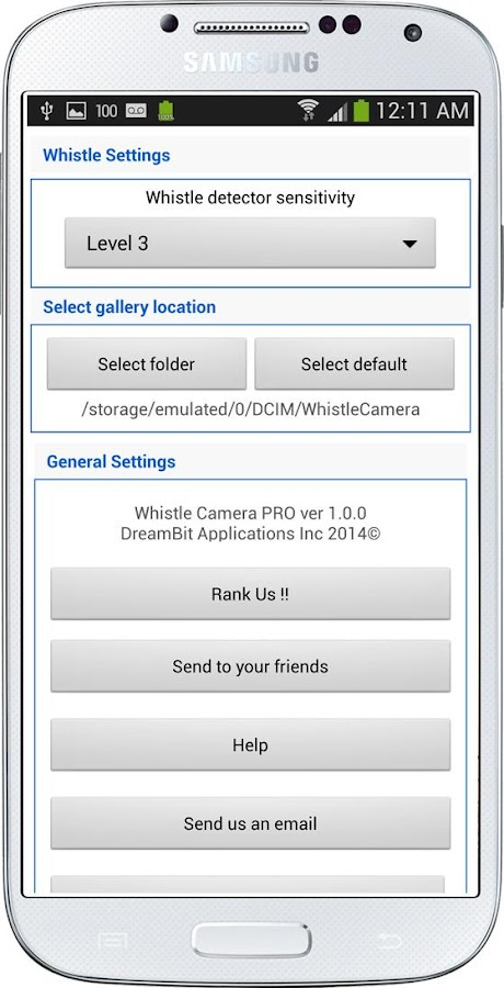 Whistle Camera - Selfie & More- screenshot