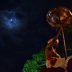 Kandy Perahara  by Kavindu Anthony - City,  Street & Park  Night ( sri lankan night sky, sri lankan traditional, esala poya, perahara, full moon, sri lanka, night full moon, night sky, kandy, kandu perahara )