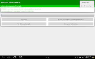 Screenshot of Rastreador celular Inteligente
