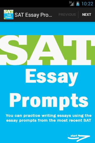 sat essay prompts - FREE