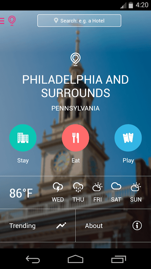 Philadelphia City Guide- screenshot