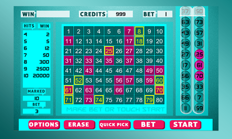 Keno Bingo - screenshot