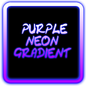 Purple Neon Gradient Keyboard
